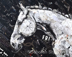 Horse print by collage artist