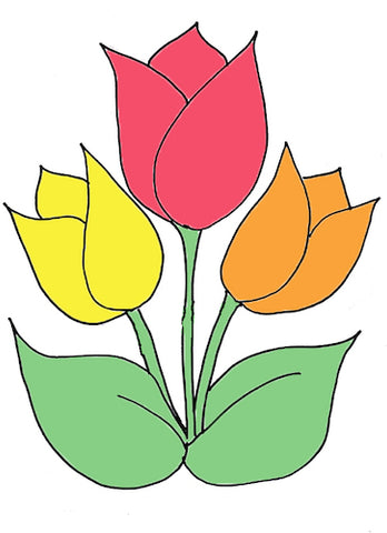 Kids Collage Tulip Template