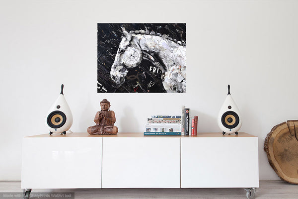 black and white art for living room