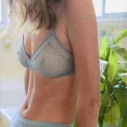 Karlie Triangular Bralette - Sky Blue