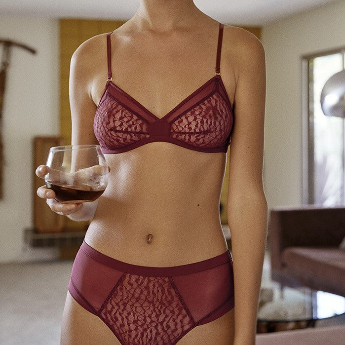Karlie Triangular Bralette - Wine