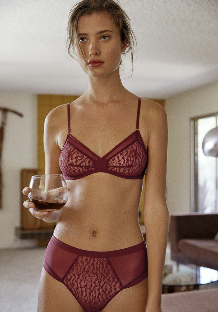Karlie High-Waisted Brief - Wine