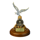 Glass Baron U.S Army Veteran Eagle, Officially Licensed Product Accented with Swarovski Crystal Mounted on Decorative Base