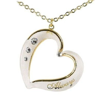 """Always"" Crystal Heart Necklace ~ JP 192"