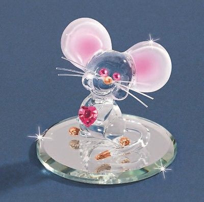 Too Cute Mouse w/ Crystal heart & eyes ~ S2 130
