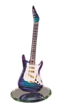 "Glass Baron ""Purple Haze Vintage Guitar"" Figurine Accented with 22 kt. Gold and Swarovski Crystals"