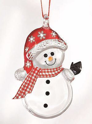Glass Baron Handcrafted Snowman Buttons Ornament Accented with Swarovski Crystals