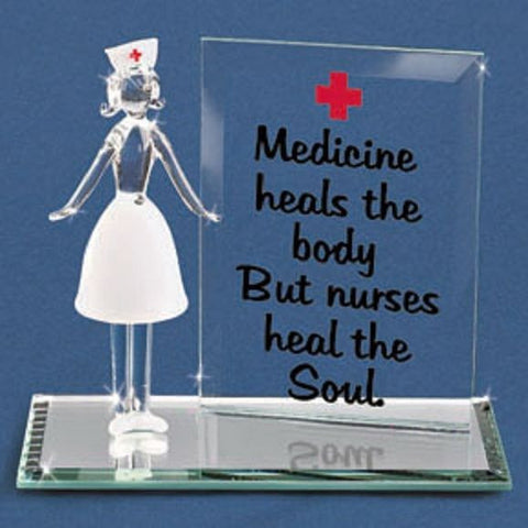 Nurse Nurses Heal the Soul Medicine Glass Figurine ~ EM3 536