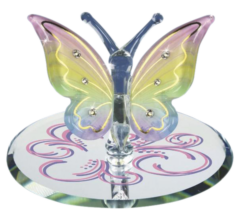 Beautiful Rainbow Flutter Butterfly ~ S2 308-RF