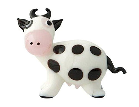New Hand Blown Glass Cow Milano Figurine