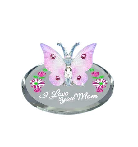 Glass Baron Butterfly I Love You MOM