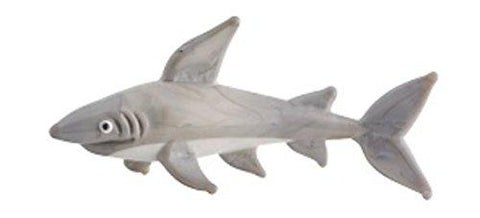 Milano Glass Art Gray Shark