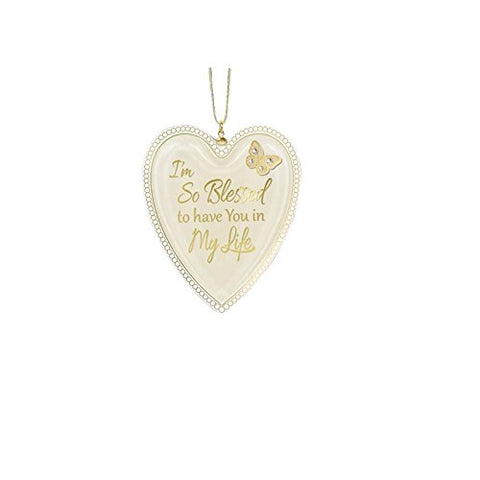 Heart Christmas Ornament ~ Blessed to have you in my Life ~ W3 537