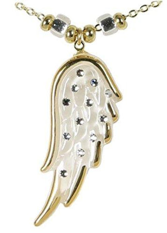 Glass Baron Angels Wing Necklace - White
