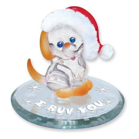 "Glass Baron ~ ""I Ruv You""Christmas Puppy"