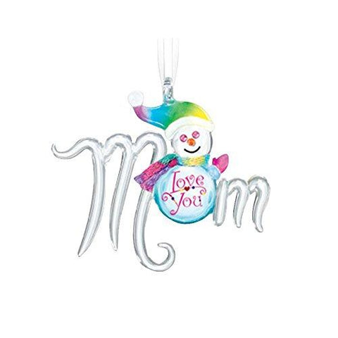 Glass Baron ~ Snow Mom Ornament