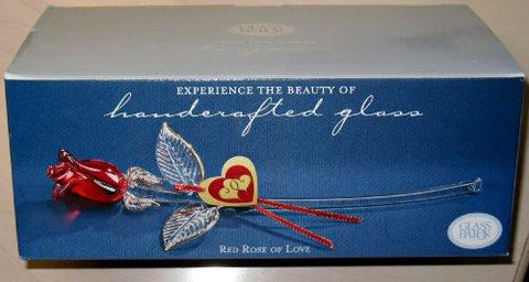 Glass Baron Long Stem Red Rose of Love