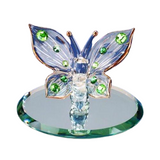 Glass Baron Stunning Green Crystal Butterfly with Green Swarovski Crystals Figurine Accented with 22kt Gold