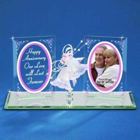 Glass Baron Happy Anniversary Plaque with Bells
