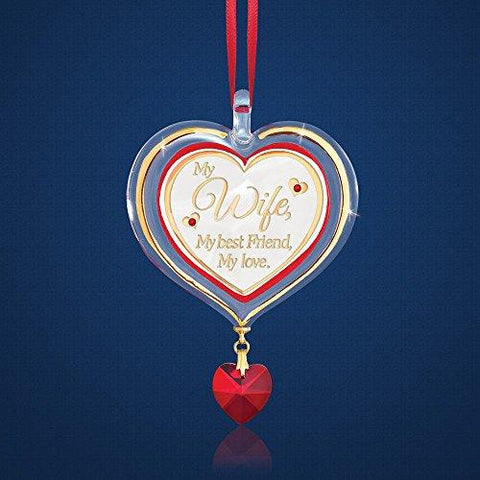 Glass Baron ~ My Wife Heart Ornament