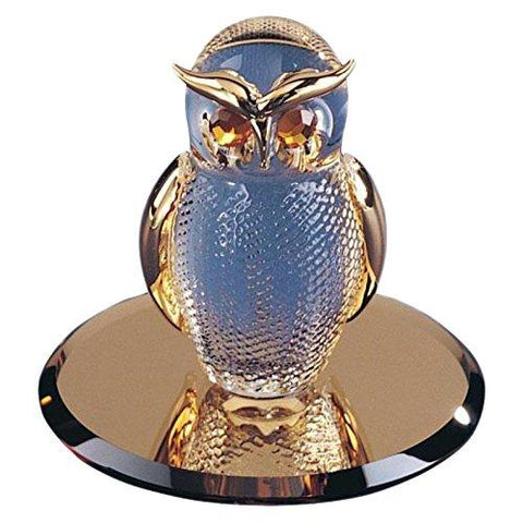 Glass Baron ~ Clear Gold Owl