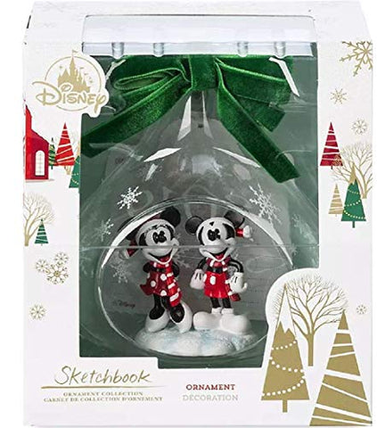 ORNAMENT Mickey and Minnie Mouse Glass Drop Sketchbook 2019