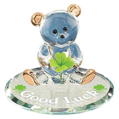 "Glass Baron ~ ""Good Luck"" Bear"