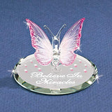 Believe Butterfly Glass Figurine