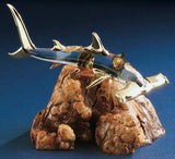 Glass Baron Hammerhead Shark on Manzanita Wood Figurine