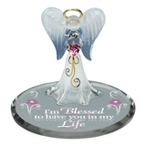 "Glass Baron Angel ""I'm Blessed"" Handcrafted Figurine Accented with Crystal & 22kt Gold"