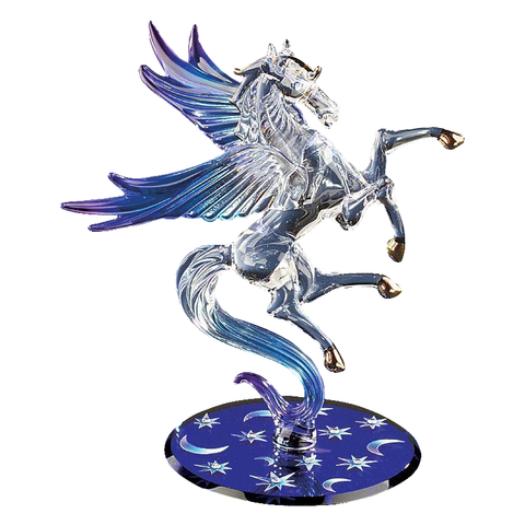 Glass Baron ~ Celestial Pegasus  w/ Crystal Eyes and Accents ~ New in Box