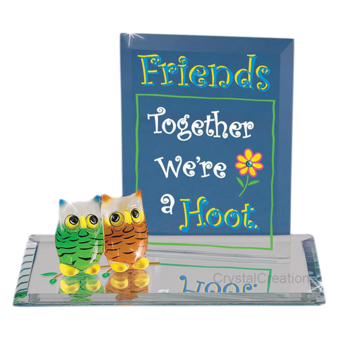 Glass Baron ~ Owl Friends We're a Hoot ~ EM3 312-F