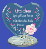 "Glass Baron Grandma ""You Fill Our Hearts"" Decorated in Swarovski Crystals"