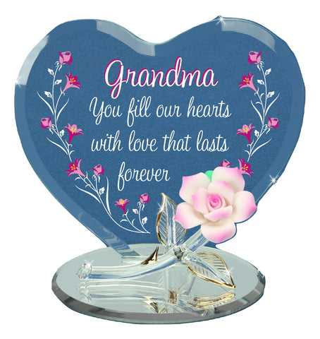 "Grandma ""You Fill Our Hearts"" EM5 807-GH Mother's day 2020 Crystal Gift"