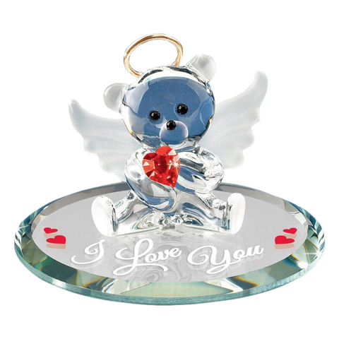 "Glass Baron ~ Red Angel Bear - ""I Love You""  Figurine ~ HC0 160-R5"