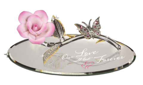 "Glass Baron ~ Butterfly ""Love Forever"" ~ P4 432-BP"