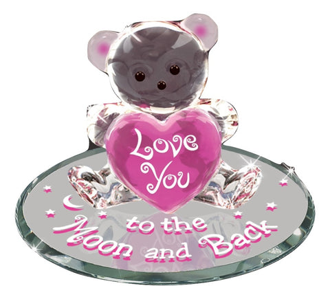 S3 151-BKP Bear, Love you to the Moon & Back - Pink, Valentine's Day Edition