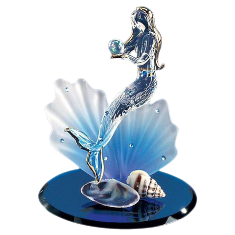 Glass Baron ~ Blue Coral Mermaid Glass Figurine ~ S3 260