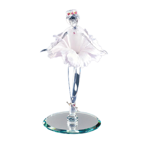 Glass Baron Ballerina Handcrafted Figurine Accented with Crystal