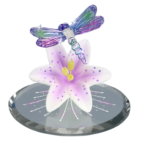 Lavender Dragonfly and Lily - T1 341-S