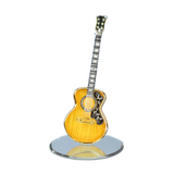 Glass Baron Deluxe Acoustic Guitar Figurine Accented with Swarovski Crystals and Real 22Kt Gold