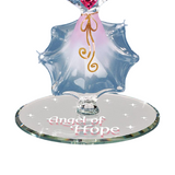 Angel of Hope Glass Figurine Accented with Pink Swarovski Crystal Heart & 22kt Gold