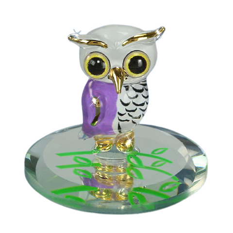'Snowy' Owl with 22kt gold accents - S1 354-SY