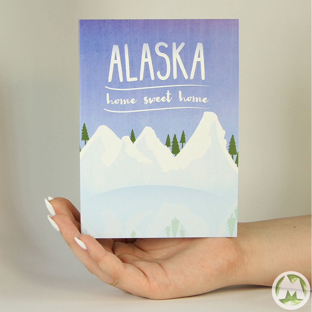Alaska Home Sweet Home Funny Greeting Card Memorytag Greeting Cards