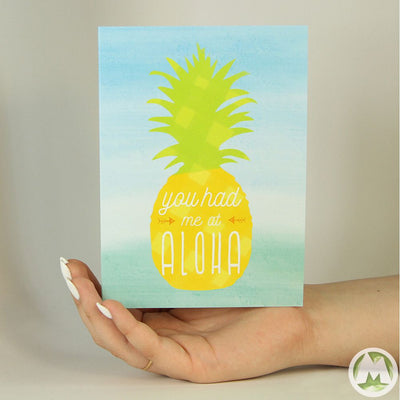 Aloha Hawaii Funny Greeting Card MemoryTag Greeting Cards-Greeting Card-MemoryTag Greeting Cards