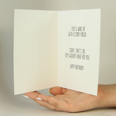 Birthday Advice Funny Greeting Card MemoryTag Greeting Cards-Greeting Card-MemoryTag Greeting Cards