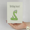 Birthday Hisses Funny Greeting Card MemoryTag Greeting Cards-Greeting Card-MemoryTag Greeting Cards