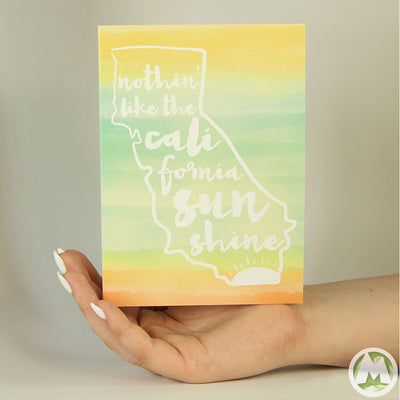 California Sunshine Funny Greeting Card MemoryTag Greeting Cards-Greeting Card-MemoryTag Greeting Cards