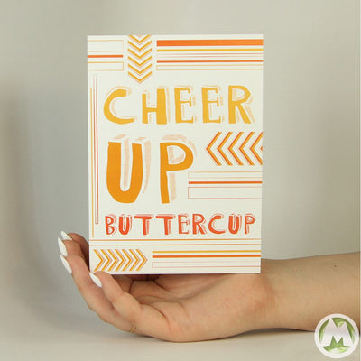 Cheer Up Buttercup Funny Greeting Card MemoryTag Greeting Cards-Greeting Card-MemoryTag Greeting Cards