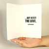 Cody No Love Funny Greeting Card MemoryTag Greeting Cards-Greeting Card-MemoryTag Greeting Cards